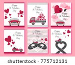 happy valentines day. set of... | Shutterstock .eps vector #775712131