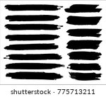 collection of hand drawn grunge ... | Shutterstock .eps vector #775713211