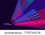 radial abstract graphic  vector ... | Shutterstock .eps vector #775714174