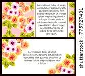 vintage delicate invitation...   Shutterstock .eps vector #775727431