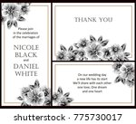 romantic invitation. wedding ... | Shutterstock . vector #775730017