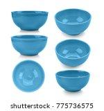 blue bowl on white background | Shutterstock . vector #775736575