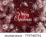 elegant christmas red...   Shutterstock .eps vector #775740751