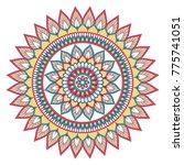 ethnic ornamental mandala.... | Shutterstock .eps vector #775741051