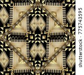 tribal geometric vector... | Shutterstock .eps vector #775743595