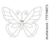 funny smiling butterfly cartoon.... | Shutterstock .eps vector #775748071