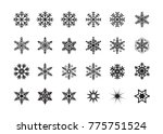 snowflakes ice pieces vector... | Shutterstock .eps vector #775751524