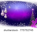 christmas festive purple... | Shutterstock .eps vector #775752745