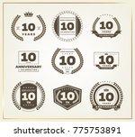 10 years anniversary logo set....   Shutterstock .eps vector #775753891