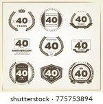 40 years anniversary logo set....   Shutterstock .eps vector #775753894