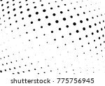abstract halftone wave dotted... | Shutterstock .eps vector #775756945