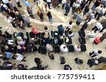 parishioners giving last... | Shutterstock . vector #775759411