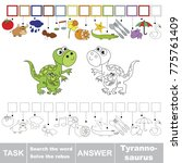 educational puzzle game for...   Shutterstock .eps vector #775761409