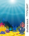underwater scene with tropical... | Shutterstock . vector #775761847