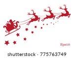 illustration of a red reindeer ... | Shutterstock . vector #775763749