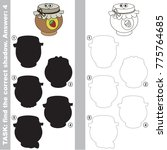 funny jam pot to find the... | Shutterstock .eps vector #775764685