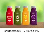 healthy juices in natural... | Shutterstock .eps vector #775765447