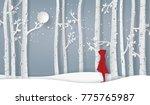 winter season with the girl... | Shutterstock .eps vector #775765987