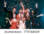 super party with best friends.... | Shutterstock . vector #775768429