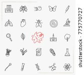 biology line icons set | Shutterstock .eps vector #775770727
