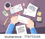 send letter in envelope with... | Shutterstock .eps vector #775772155