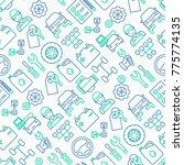 car service seamless pattern... | Shutterstock .eps vector #775774135
