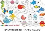underwater animals elements set ... | Shutterstock .eps vector #775776199