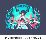 concert of rock band with... | Shutterstock .eps vector #775778281