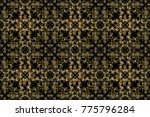 black  yellow and brown colors... | Shutterstock . vector #775796284