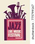 vector poster for a jazz... | Shutterstock .eps vector #775799167