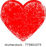 textured hearts . red grunge...   Shutterstock .eps vector #775801075