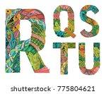 unusual colorfull alphabet... | Shutterstock .eps vector #775804621