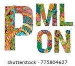 unusual colorfull alphabet...   Shutterstock .eps vector #775804627