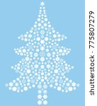 christmas tree made of blue...   Shutterstock .eps vector #775807279