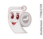 roll of toilet paper. a... | Shutterstock .eps vector #775812739