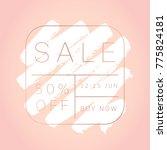 sale banner template. editable... | Shutterstock .eps vector #775824181