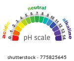 scale of ph value for acid and... | Shutterstock .eps vector #775825645