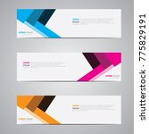 banner background.modern... | Shutterstock .eps vector #775829191