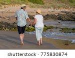 lovely senior mature couple on... | Shutterstock . vector #775830874