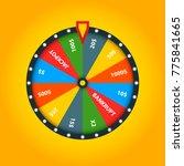 color fortune wheel. vector... | Shutterstock . vector #775841665