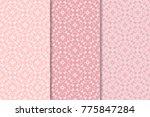 set of floral ornaments. set of ... | Shutterstock .eps vector #775847284