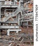 weathered rusty industrial... | Shutterstock . vector #775847809