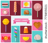 sweet candy icon. sweets and... | Shutterstock .eps vector #775855021