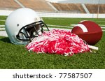 American Football  Helmet  And...