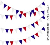 festive bunting flags. holiday... | Shutterstock . vector #775879114