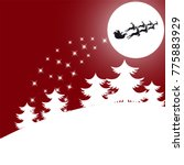 christmas background.santa in a ...   Shutterstock . vector #775883929