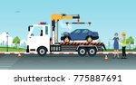 roadside assistance with... | Shutterstock .eps vector #775887691