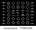 a huge rosette wicker border... | Shutterstock . vector #775892305