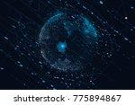 3d modeling  blue commercial... | Shutterstock . vector #775894867
