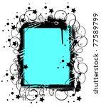 grunge frame or border on white ... | Shutterstock .eps vector #77589799